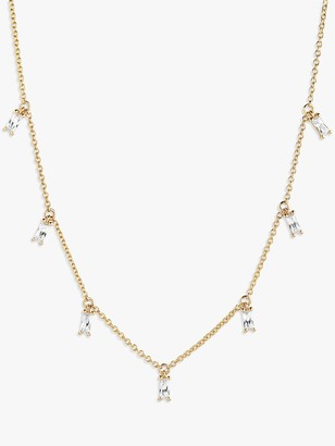 Sif Jakobs Jewellery Princess Baguette Necklace, Gold