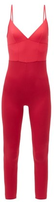 Ernest Leoty Ilona V-neck Jersey Jumpsuit - Pink Multi