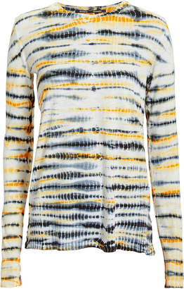 Proenza Schouler Yellow Tie-Dyed Tissue T-Shirt