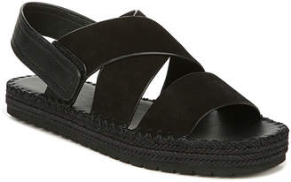 Vince Tenison 2 Flat Suede/Leather Espadrille Sandals