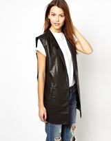 HIDE Inga Oversized Vest in Leather