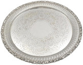 One Kings Lane Vintage English Silver-Plate Serving Tray - Rose Victoria