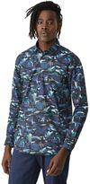 Frank + Oak Borealis Print Poplin Shirt in Blue