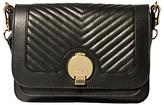 Karen Millen The Essentials Leather Disc Cross Body Bag, Black