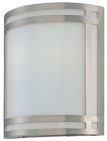 Lite Source Compact FluoresWall Light - Silver