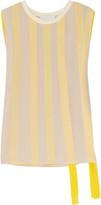 3.1 Phillip Lim Ribbon-embellished silk-chiffon top