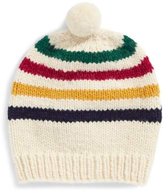 HBC Stripes Multi Stripe Hand-Knit Wool Tuque