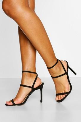 boohoo Elastic Strappy Stiletto Heels