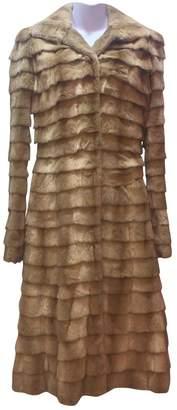 Alexander McQueen Beige Fur Coats