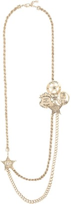 Chanel Pre Owned 2014 Signature Charms Double Necklace