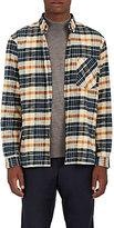 TOMORROWLAND Men's Plaid Cotton Flannel Button-Front Shirt