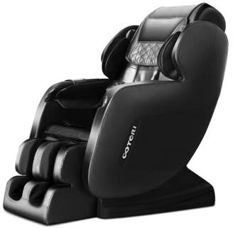 The Nova N801 3D Robot Deluxe S-Track Reclining Adjustable Width Heated Full Body Massage Chair Ootori Massage Chairs Fabric: Brown