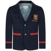 Gucci GUCCIBoys Navy Blazer With Shield