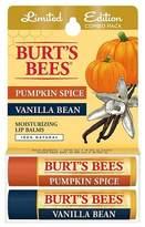Burt's Bees Pumpkin Spice & Vanilla Lip Balm 2 pk