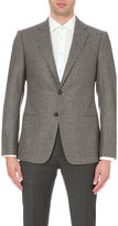 Armani Collezioni Check-print Wool And Cashmere-blend Jacket