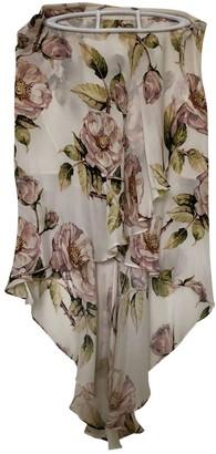 Haute Hippie Multicolour Silk Skirt for Women