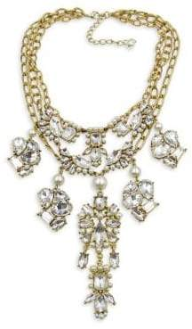 Badgley Mischka Crystal and Faux Pearl Statement Necklace