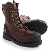 "Timberland Caprock Alloy Toe Work Boots - Waterproof, Leather, 8"" (For Men)"
