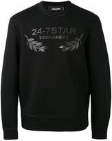DSQUARED2 logo print sweatshirt - men - Polyurethane/Viscose - M