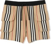 Burberry TEEN Icon stripe Drawcord shorts
