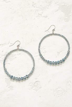 Chan Luu Blue Open Circle Multi Beaded Drop Earrings Blue 1 Size