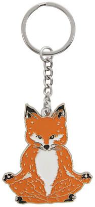 MAISON KITSUNÉ Orange Lotus Fox Keychain