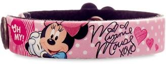 Disney Minnie Mouse Signature Leather Bracelet Personalizable