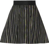 Alice + Olivia Libby striped cotton-blend mini skirt