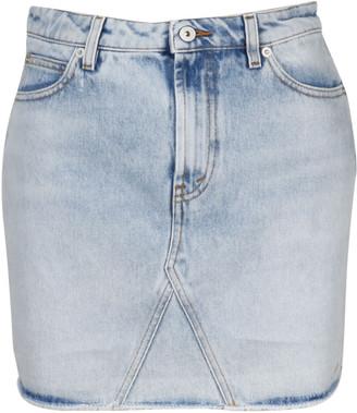 Heron Preston Style Logo Denim Skirt
