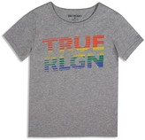 True Religion Boys' Rainbow Broken Stripe Tee - Little Kid, Big Kid