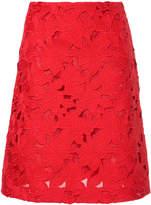 Giambattista Valli floral macrame skirt