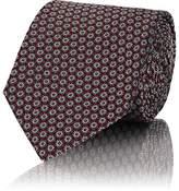 Boglioli Men's Floral-Pattern Silk Necktie