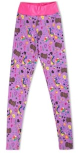 Girl Power Sport Big Girls Olivia's Doodle Active Leggings with Diva Waist