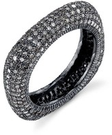 Thumbnail for your product : Sheryl Lowe Pave Diamond Square Stack Ring