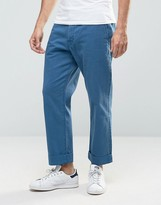 Weekday Alwa Wide Denim Chinos Light Blue