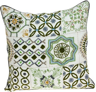 Parkland Collection Ren Transitional Beige Throw Pillow