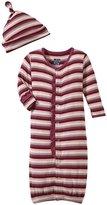 Kickee Pants Converter Gown & Hat Set (Baby) - Dino Stripe-12-18 Months