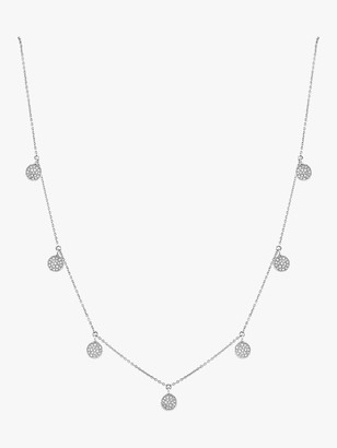 Pave Diamond Dangle Drop Necklace