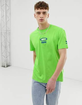Puma Cell Pack t-shirt in neon green