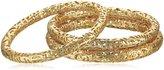 """Kendra Scott Filagree"""" 14k -Plated Lucca Bangle Bracelet, Set of 3"""