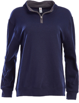 Fruit of the Loom Navy & Charcoal Quarter-Zip Pullover - Women