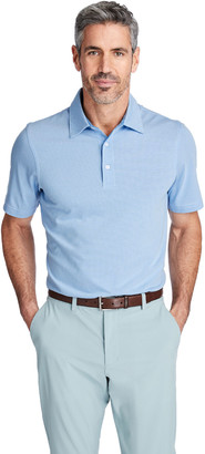 Vineyard Vines Carmel Micro Stripe Polo