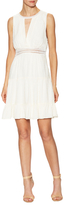 Sandro Lace Trimmed Flared Dress