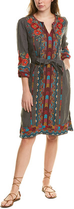 Johnny Was Petite Ornella Linen Weekend Dress