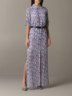 MICHAEL Michael Kors Long Dress In Python Pattern
