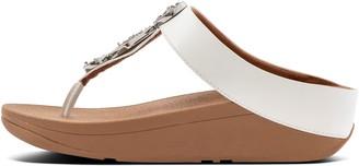 FitFlop Leia Glitz-Tweed Toe-Post Sandals