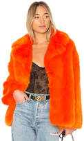 Diane von Furstenberg Collared Faux Fur Jacket