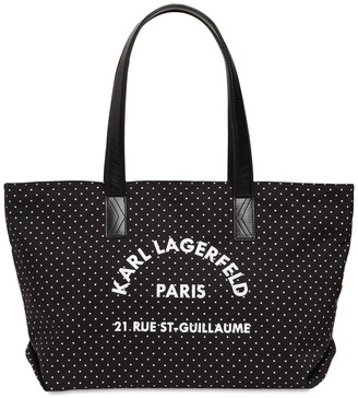 Karl Lagerfeld Paris Nylon Canvas Bag