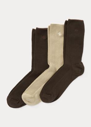 Ralph Lauren Stretch Trouser Sock 3-Pack