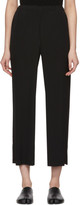 Issey Miyake Black Cuddle Pleat Trousers